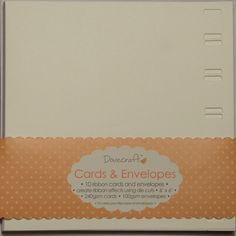 Ribbon Cards and Envelopes (Pack of 10) - NEW