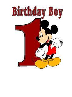 Disneys Mickey Mouse Birthday Boy Custom iron on transfer Personalize T shirt  #Handmademickeymouse #Everyday