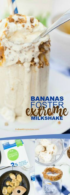 Bananas Foster Extreme Milkshake