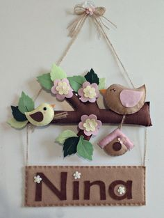 Felt Ornaments, Christmas Ornaments, Unicorn Cushion, Diy And Crafts, Arts And Crafts, Cool Christmas Trees, Felt Birds, Felt Decorations, Felt Patterns