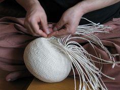 Paper weaving Second layer in progress