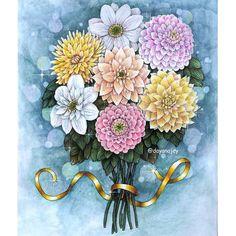 """333 отметок «Нравится», 38 комментариев — Dayana Jey (@dayanajey) в Instagram: «""""Blomster Mandala"""" coloring book by Maria Trolle / В честь моего нового рабочего места уж очень…»"""
