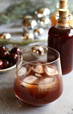 Bourbon Manhattan Cherry Shrub