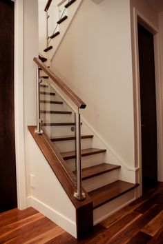 Glass Stairs Design, Staircase Design Modern, Staircase Railing Design, Home Stairs Design, Duplex House Design, Modern House Design, Staircase Lighting Ideas, Home Radiators, House Outer Design