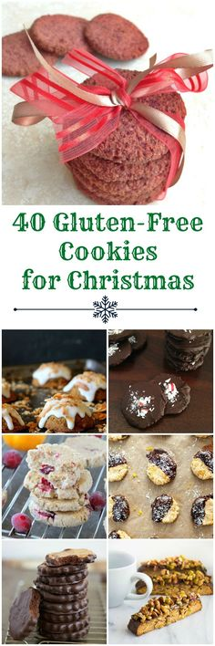 40 Gluten Free Christmas Cookie Recipes chosen by the registered dietitians of @healthyaperture