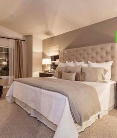 GUEST BEDROOM IDEA: I Like Having Creams And Beiges For The Master Bedroom.  It Allows You To Change Pops Of Color For Seasons, Holidays Or Moods.