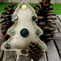Hey, I found this really awesome Etsy listing at https://www.etsy.com/listing/196366651/burlap-christmas-tree-decoration-rustic