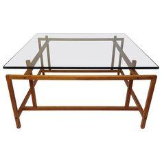 Fabulous 1960s Teak & Glass Coffee Table by Henning Norgaard for Komfort 1