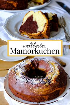 Rezept: weltbester Mamorkuchen à la was eigenes. Pro Tipp: Schattenmorellen daz… Recipe: the world's best mamorkuchen to clean. Tip: Add the morels in the shade. Easy Cookie Recipes, Baking Recipes, Cake Recipes, Dessert Recipes, Fudge Recipes, Easy Desserts, Healthy Recipes, Marble Cake, Food Cakes