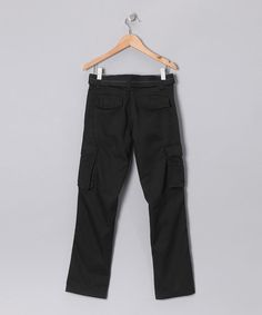 This Black Stitch Cargo Pants - Boys is perfect! #zulilyfinds