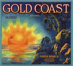 Gold Coast Orange Crate Label by The Medster, via Flickr