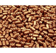 20gr Czech Glass Two-Hole Seed Beads RULLA 3x5mm Crystal Bronze Copper