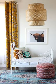 Vintage Interior Design I love this Bohemian interior design and this room is a beautiful part of a bohemian home decor theme. I love the bold colors mixed in with ecletic bohemian wall art and Bohemian decorative accents. A Gallery of Bohemian Bedroom