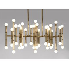 I have no words. This chandelier is like an abstract reflected landscape in metal and light. Modern, clean, a little old Hollywood. *loves*