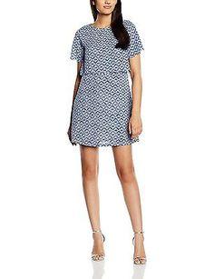 UK 10, Blue - Bleu (Navy Blue), Molly Bracken Women's P229e16 Short Sleeve Dress