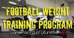 High School Football Weight Training Program information Page Football Drills For Kids, High School Football Player, Football Workouts, Football Things, Flag Football, Football Memes, School Sports, Weight Training Programs, Weight Training Workouts