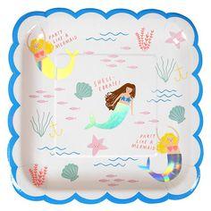 "Meri Meri ""Let's be Mermaids"" Paper Plates"
