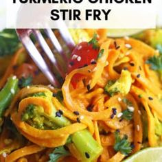 If you suffer from Chronic Hives (like me) you want to read these 5 foods to eat to ease chronic hives PLUS a delicious Turmeric Chicken Stir Fry recipe. Tumeric Chicken, Chronic Hives, Sweet Potato Noodles, Chicken Stir Fry, Stir Fry Recipes, Foods To Eat, Turmeric, Fries