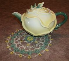 tea pot and doily