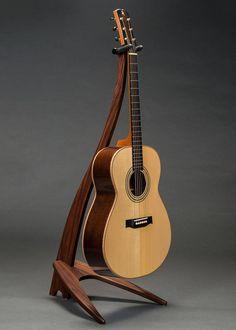 Articoli simili a Take a Stand WM Guitar Stand in Santos Rosewood su Etsy Guitar Crafts, Guitar Diy, Learn Guitar Chords, Ukulele, Hang Guitar On Wall, Diy Guitar Stand, Guitar Rack, Toy Barn, Guitar Design