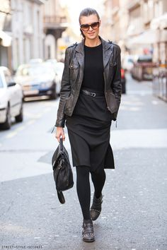 7 Office Wear Ideas & How To NOT Dress Boring To Work -- Is your work more creative? Add edgy looks with boots and leather!