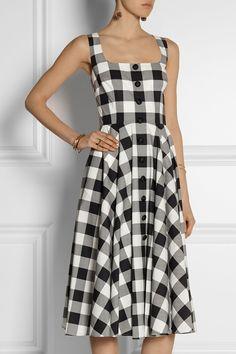 Dolce & Gabbana Gingham cotton-poplin dress NET-A-PORTER.COM