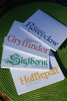 Hogwarts note cards, blank inside for your heartfelt message (or your own Hogwarts letter. Fat chance.)