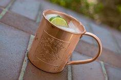 The Moscow Mule, served in a copper mug, was invented in 1946 by Jack Morgan at his mock British tavern Cock'n Bull on the Sunset Strip in Los Angeles. For 50 years Hollywood ate and drank here, from Myrna Loy and Richard Burton to Somerset Maugham and Joan Crawford. With the neighborhood changing, the Cock'n Bull closed in 1987. But their Ginger Beer, an ingredient in the Mule, lives on. It even has it's own Facebook page!