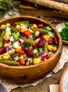 This healthy, hearty, and refreshing Oil Free Five Bean Salad is so easy to pull together for a quick salad, work lunch, picnic, or your next potluck. Plant Based Eating, Plant Based Diet, Plant Based Recipes, Five Bean Salad, Whole Food Recipes, Dinner Recipes, Dinner Ideas, Vegetarian Recipes, Healthy Recipes