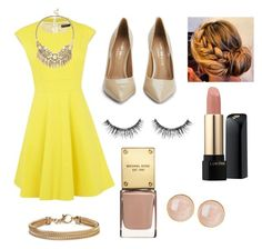"""""""Untitled #4"""" by matamala-flor ❤ liked on Polyvore featuring beauty, Karen Millen, Kurt Geiger, Lancôme, Sephora Collection, Sole Society, Saachi and Blue Nile"""