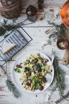 Celery Root & Goat Cheese Agnolotti + Parsley Brown Butter & Shiitakes by Beth Kirby   {local milk}, via Flickr