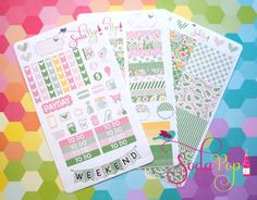 Perfect Paisley Weekly Kit  This perfect paisley weekly kit fits great in the Erin Condren planner. Our weekly kits make it super easy for you