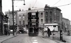 Coldharbour Lane and Denmark Hill junction, Brixton. Historical Brixton - old and new photos of Brixton, Lambeth, London, and Vintage London, Old London, London City, London History, British History, Old Pictures, Old Photos, History Of England, South London