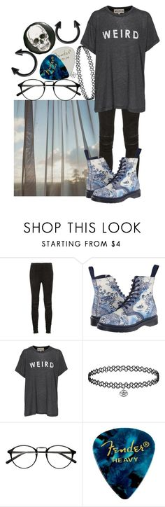 """Still I will if I must"" by biter-sweet ❤ liked on Polyvore featuring Yves Saint Laurent, Dr. Martens, Wildfox and H&M"