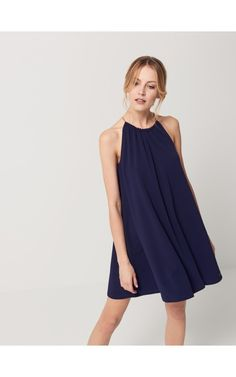 Sukienka z dekoltem halter, SUKIENKI, KOMBINEZONY, niebieski, MOHITO dress simple elegant summer