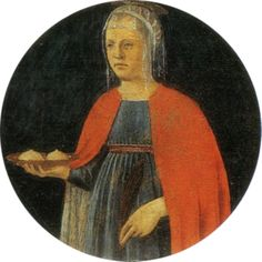 Many with breast cancer pray to St. Agatha to be healed. The church is in Catania Fra Angelico, Catholic Saints, Patron Saints, Wet Nurse, Lives Of The Saints, Empire Romain, National Symbols, Spiritus, Renaissance