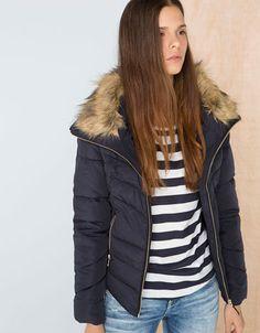 Bershka Thailand -BSK detachable fur collar jacket