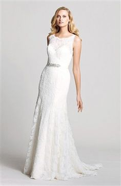 Column Lace Strapless Lace Wedding Dress Style Code: 13770 $311 Order here: http://www.outerinner.com/column-lace-strapless-lace-wedding-dress-pd-13770-0.html