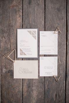 Geometric invitations: http://www.stylemepretty.com/2015/03/25/modern-geometric-wedding-inspiration/ | Photography: MGB - http://www.malloryberry.com/