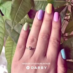 DIY Pastel Nails for Spring. SHOP the colors in link below. #easter #diy #nailart #manicure #beauty