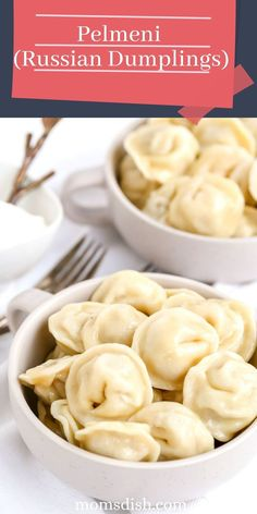 Pelmeni are the Russian version of dumplings. They're mostly served on cold winter days with sour cream or just butter. Kids and adults both love them, they are a true Russian comfort food.