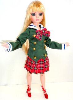 "School Girl Uniform Doll Outfit fits 1/4 MSD BJD 16"" Ellowyne Wilde Tonner Tyler | eBay"