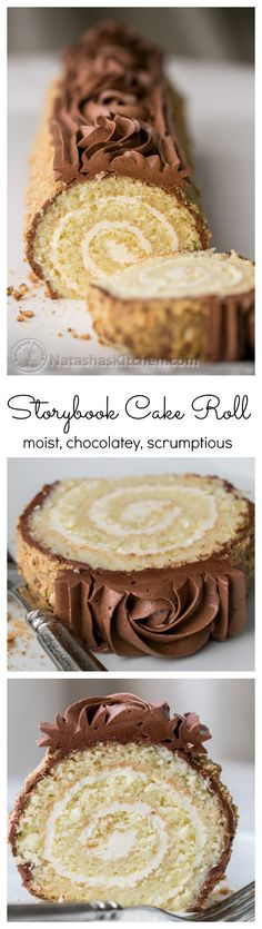 you have to try this cake roll moist chocolatey amp stunning step by step photos natashaskitchen Cake Roll Recipes, Dessert Recipes, Cupcakes, Cupcake Cakes, Valentine Desserts, Low Carb Cheesecake, Food Cakes, Let Them Eat Cake, Just Desserts