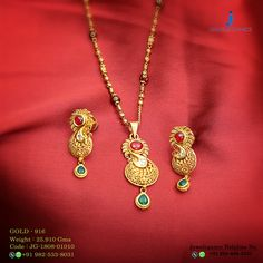 Gold 916 Premium Design Get in touch with us on Pendant Set, Gold Pendant, Pendant Jewelry, Jewelry Necklaces, Pendant Necklace, Simple Necklace, Necklace Set, Gold Jewellery Design, Gold Jewelry