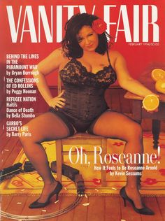 Roseanne Barr Tom Arnold Roseanne And Tom Arnold Vanity Fair Magazine December 1990 Cover Photo United States