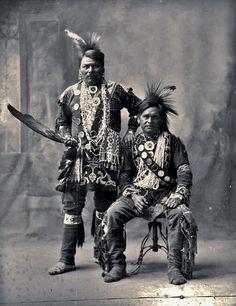 Black Hawk Jr., Little Ox at the Trans-Mississippi International Exposition in Omaha, Nebraska - Winnebago - 1898
