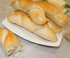 Slovak Recipes, Czech Recipes, Baking Recipes, Healthy Recipes, Ciabatta, Savoury Dishes, Party Snacks, Hot Dog Buns, Holiday Recipes
