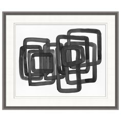 This abstract creation delivers dimension with a full page of black lines and visible streaks full of texture and life. Frame Color Shown: Gray.   Our art pieces are made to order and cannot be cancelled, returned or exchanged.