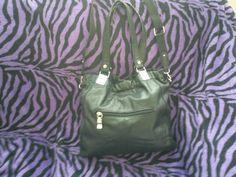 Authentic Black Franco Sarto leather handbag - $68