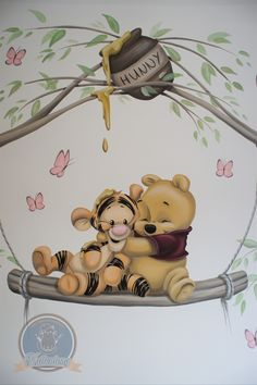 Winnie The Pooh Drawing, Winnie The Pooh Pictures, Cute Winnie The Pooh, Winnie The Pooh Nursery, Winne The Pooh, Cute Patterns Wallpaper, Cute Disney Wallpaper, Cute Cartoon Wallpapers, Disney Baby Rooms